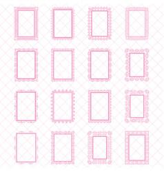 elegant lace border frames laser cut picture vector image