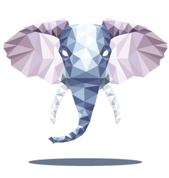 Elephant head polygon vector
