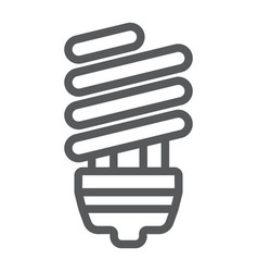 energy saving line icon ecology lamp and energy vector image