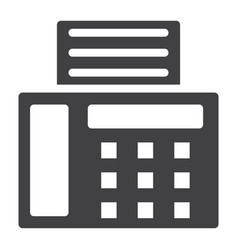 Fax solid icon contact us and website vector