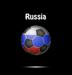 flag of russia as an soccer ball vector image