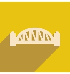 Flat icon with long shadow sydney harbour bridge vector