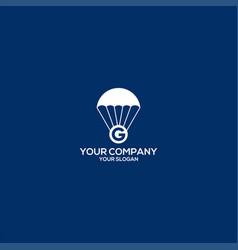G coin airdrop logo design vector