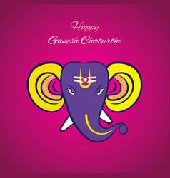 Ganesh chaturthi festival poster vector