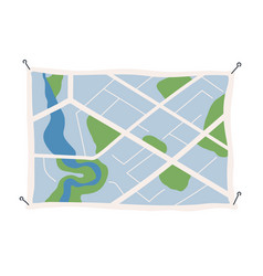 generic city map with signs streets roads vector image