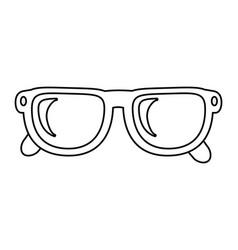 Glasses lens cartoon vector