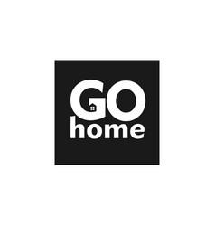 Go home template design vector
