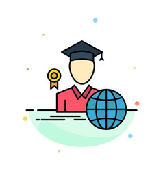 Graduation avatar graduate scholar abstract flat vector