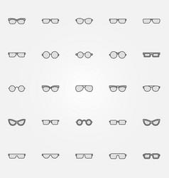 gray glasses icons set - sunglasses design vector image
