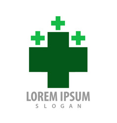 green cross logo concept design symbol graphic vector image