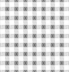 Grey checkered geometric seamless pattern vector
