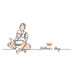 happy fathers day background web banner vector image