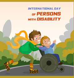 International day of persons with disability vector