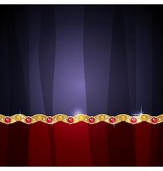 jewel border vector image