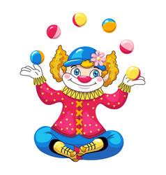 Juggler clown icon cartoon style vector