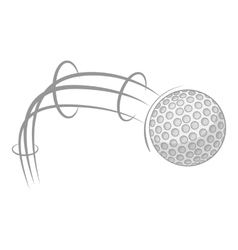 Kick of golf ball icon cartoon style vector image