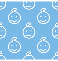 Kid seamless pattern vector image