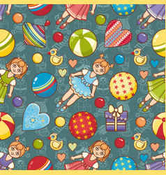 kid toy seamless pattern design element vector image
