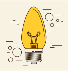 Lightbulb isolated icon eps 10 vector