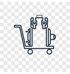 Luggage concept linear icon isolated on vector