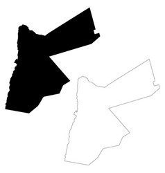 Map jordan isolated black on vector