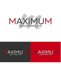 Maximum logo letter m logo logo template vector