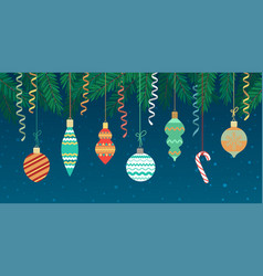 Merry christmas background with decoration vector