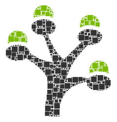money tree mosaic of squares and circles vector image