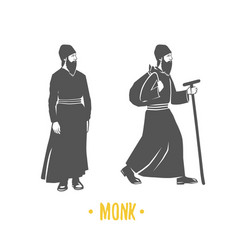 Monk faith christianity orthodoxy vector