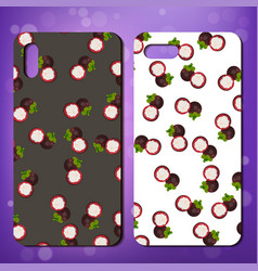 original fruit pattern on phone cover vector image