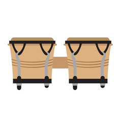 Pair of bongo drums icon musical instrument vector