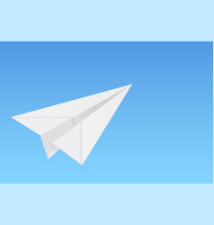 Paper airplane on blue background vector