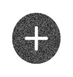 Positive symbol plus sign black icon from vector