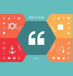 quote icon symbol vector image