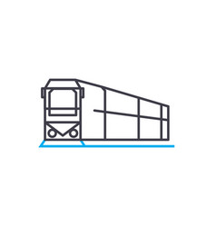 rail transportation thin line stroke icon vector image