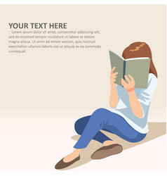 read with text vector image