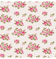 Seamless floral pattern with little roses vector image