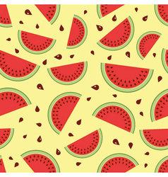 Seamless watermelon pattern vector