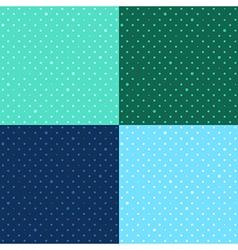 Set Blue Green Star Polka dot vector image