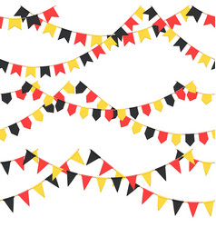Set of garland with celebration flags chain black vector