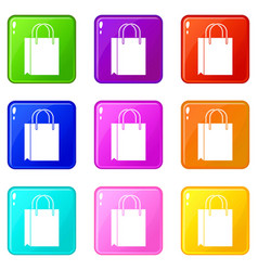 Shopping bag set 9 vector