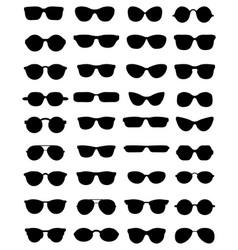 Silhouettes eyeglasses vector