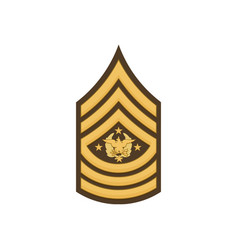 Sma sergeant major army insignia us forces vector