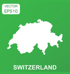 switzerland map icon business concept switzerland vector image