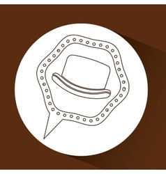 symbol hipster hat design icon vector image