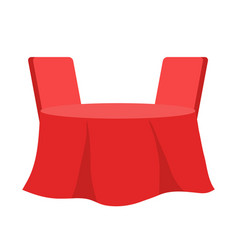 Table with chair table for festive vector