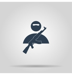 Terrorist icon concept for vector