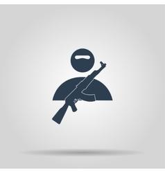 Terrorist icon concept vector