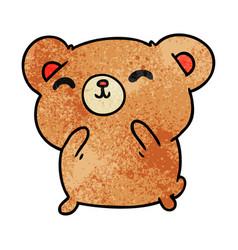 Textured cartoon kawaii cute happy hamster vector