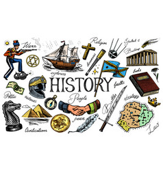 the history people science and education vector image